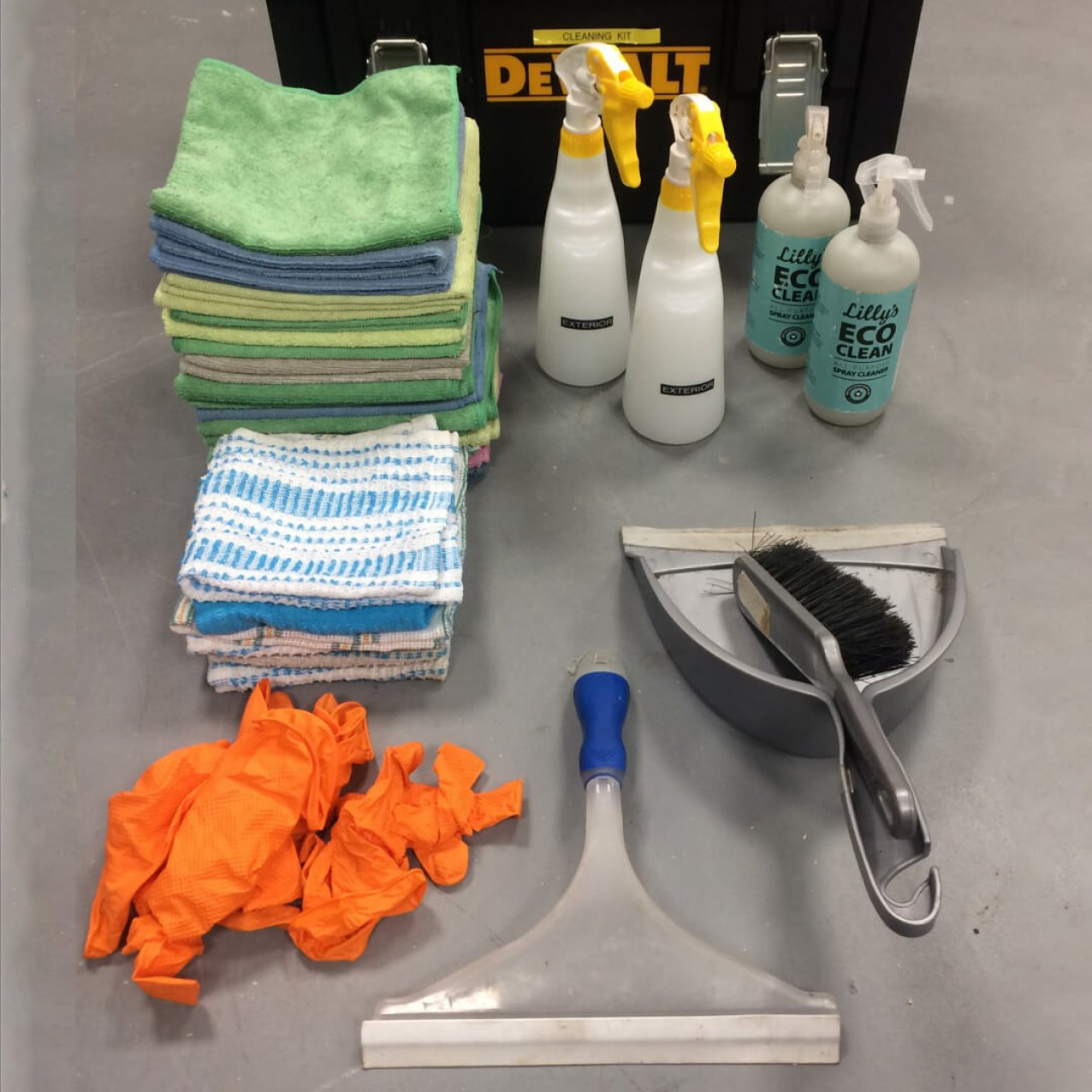 Cleaning kit onboard Vagabond Tours of Ireland vehicle