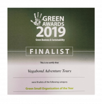 Green Awards 2019 Finalist for Vagabond Tours