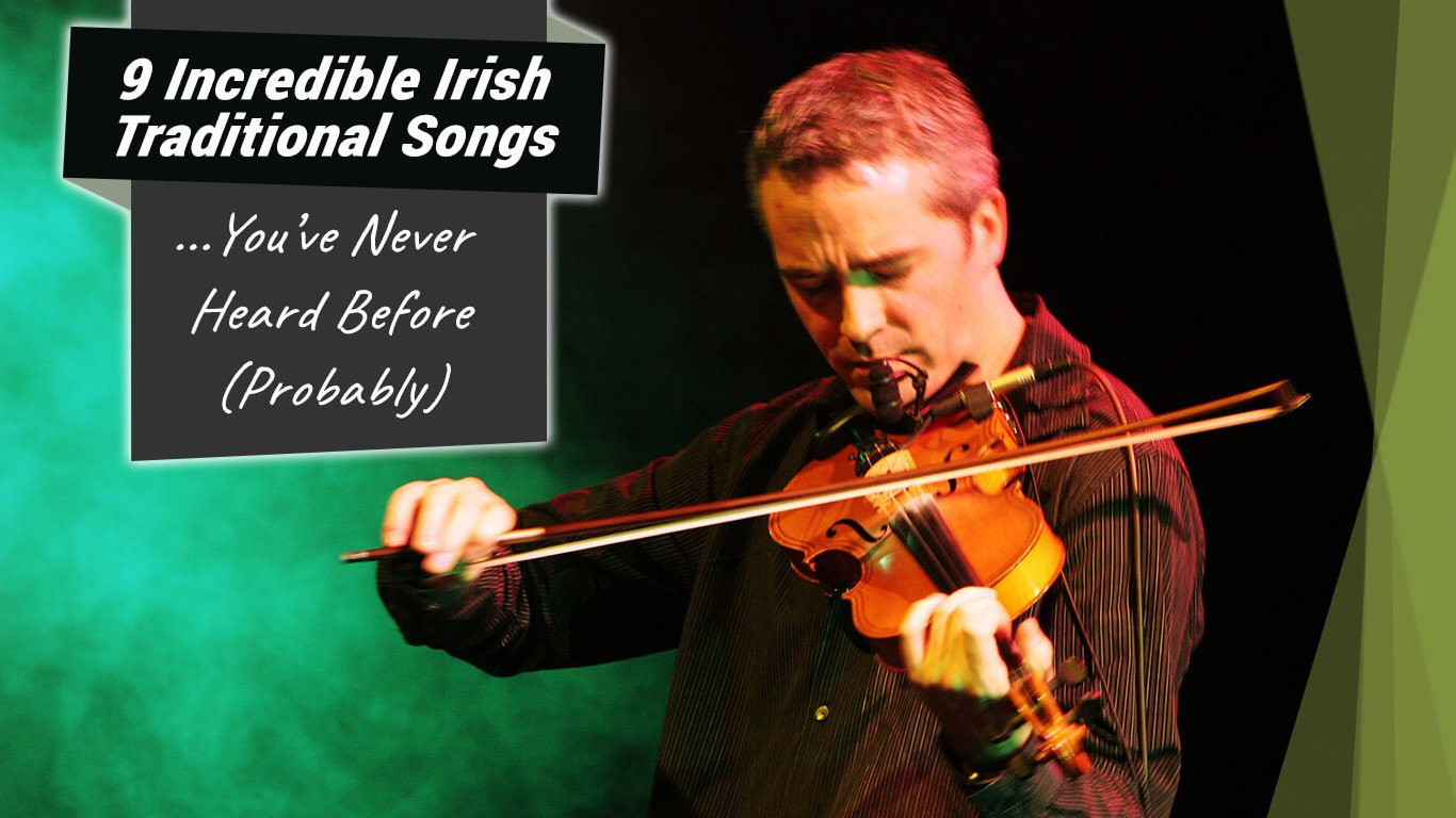 A violinist with the blog title 9 incredible Irish songs