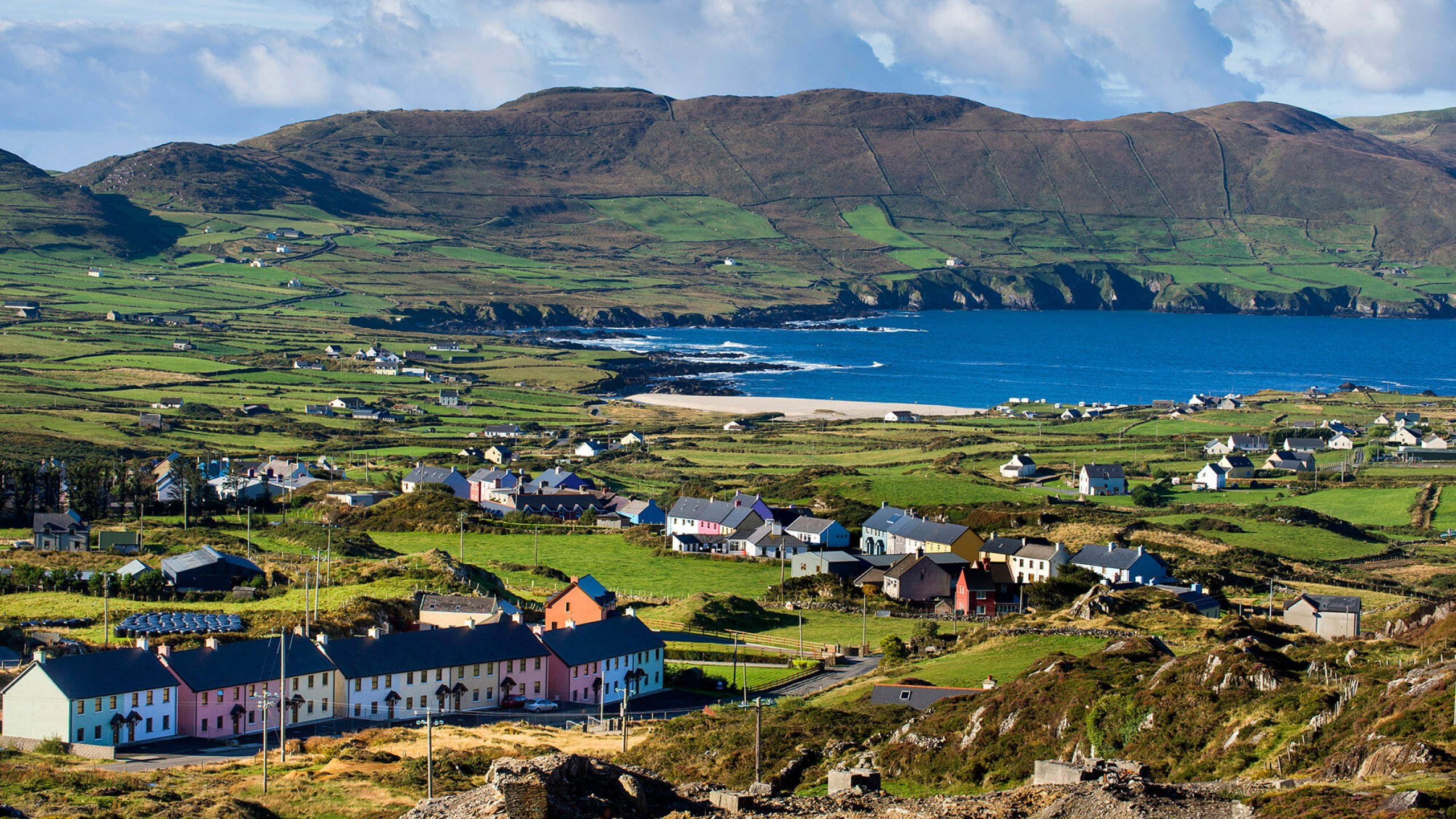 The colourful village of Allihies on the Beara peninsula, Ireland