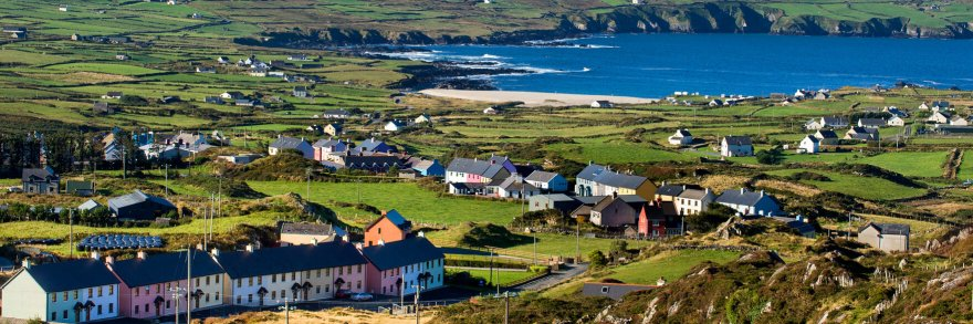 The colourful village of Allihies on the Beara peninsula