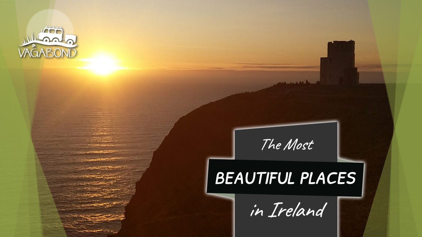 The Most Beautiful Places in Ireland Blog Post - Sunset at the Clifss of Moher in Ireland