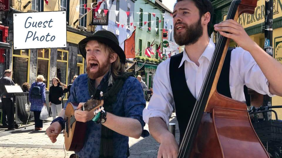 Galway buskers by Linda Cook Benzon