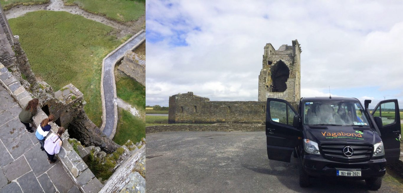 Group Visiting Carrigafoyle Castle in Ireland