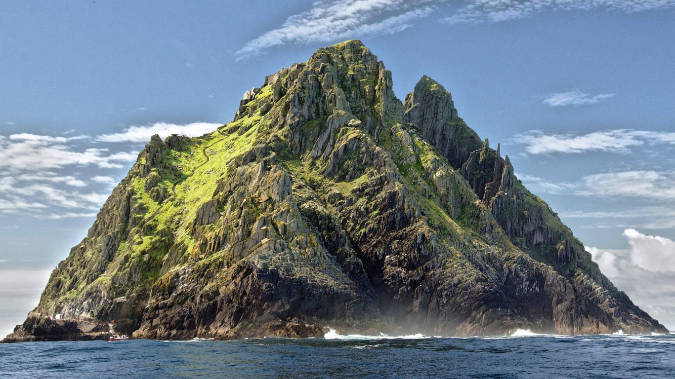 Skellig Michael island in Ireland