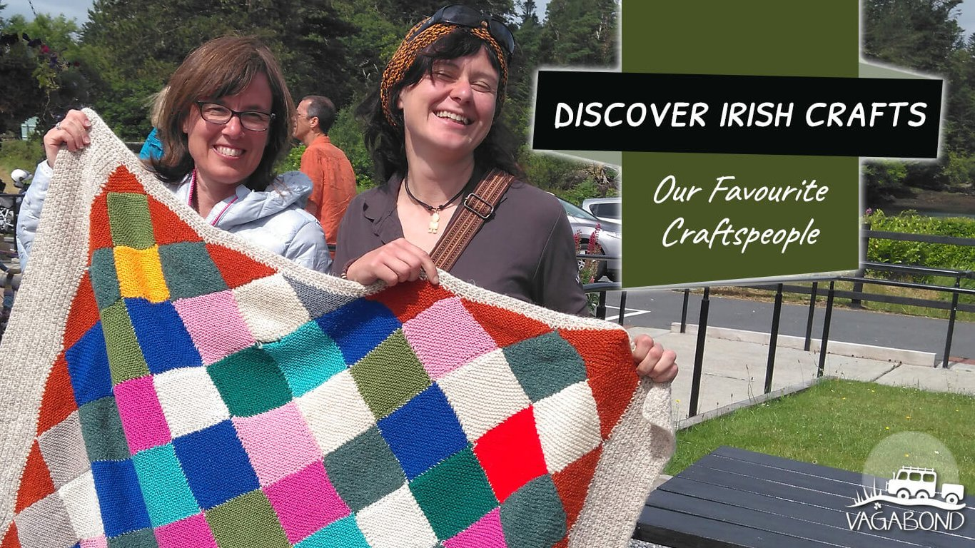 Best Irish crafts blog feature image with a quilt