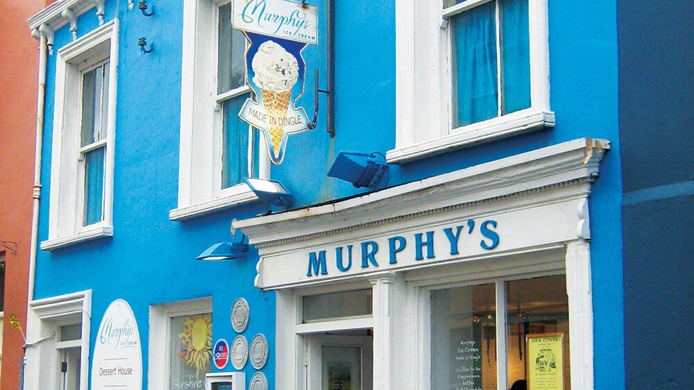 The outside of Murphys ice cream shop in Dingle
