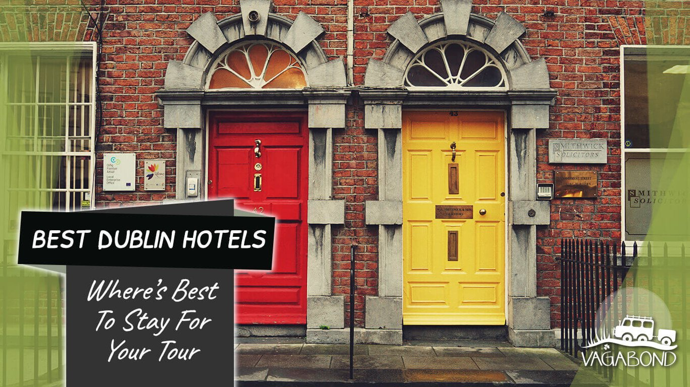 Red and yellow front doors in Dublin