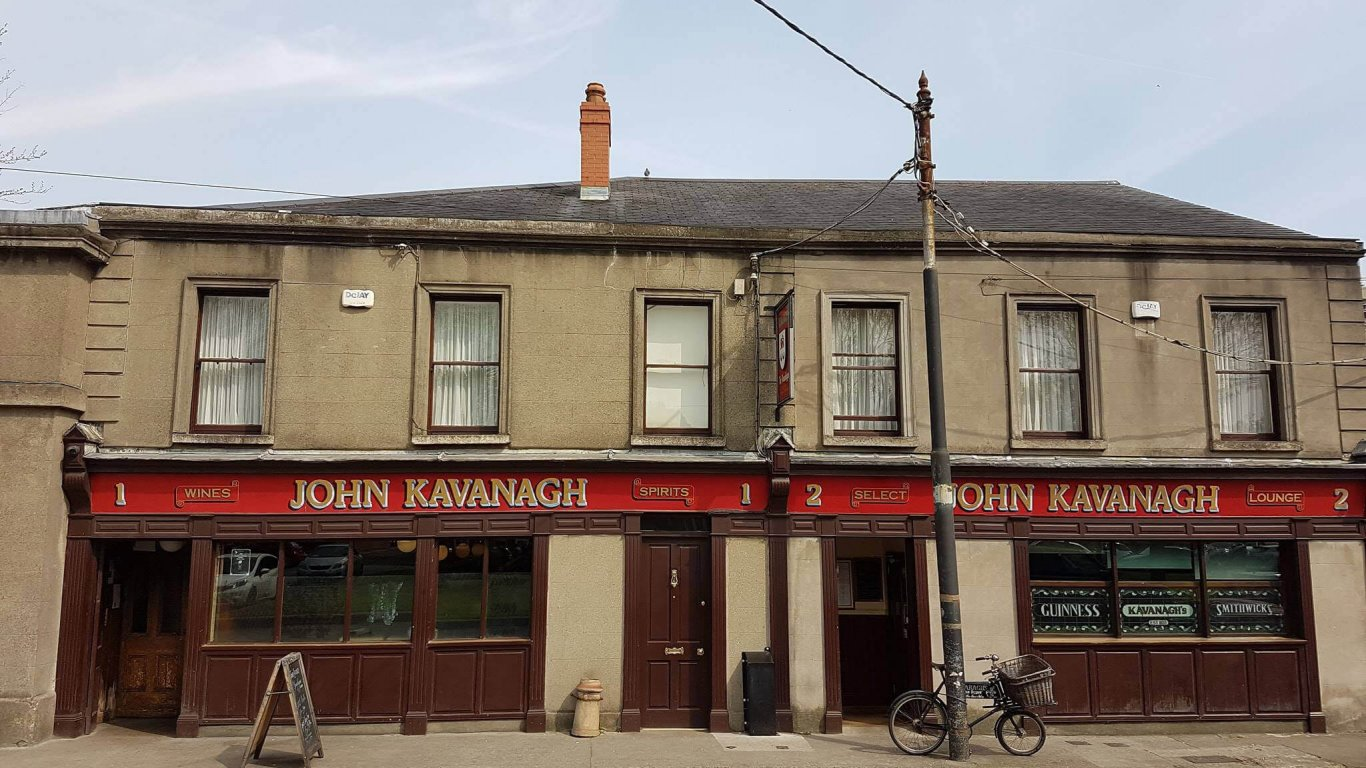 The exterior of the Gravediggers Pub in Glasnevin, Dublin, Ireland
