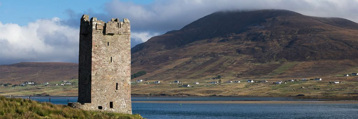 Grace O'Malley's castle on Achill Island in Ireland