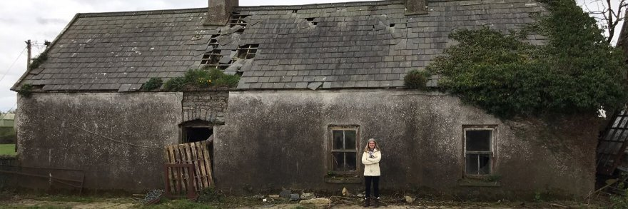 Nancy standing outside what was once her grandmothers home