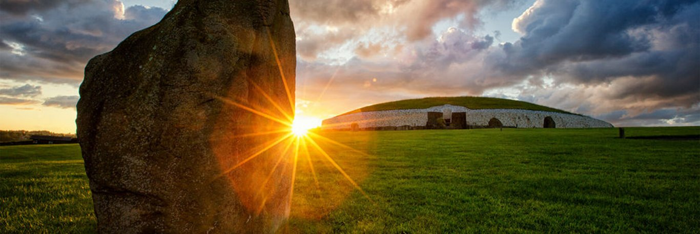 Sunset at Newgrange in Ireland
