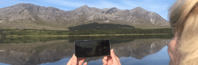 A guest capturing a picture of Connemara