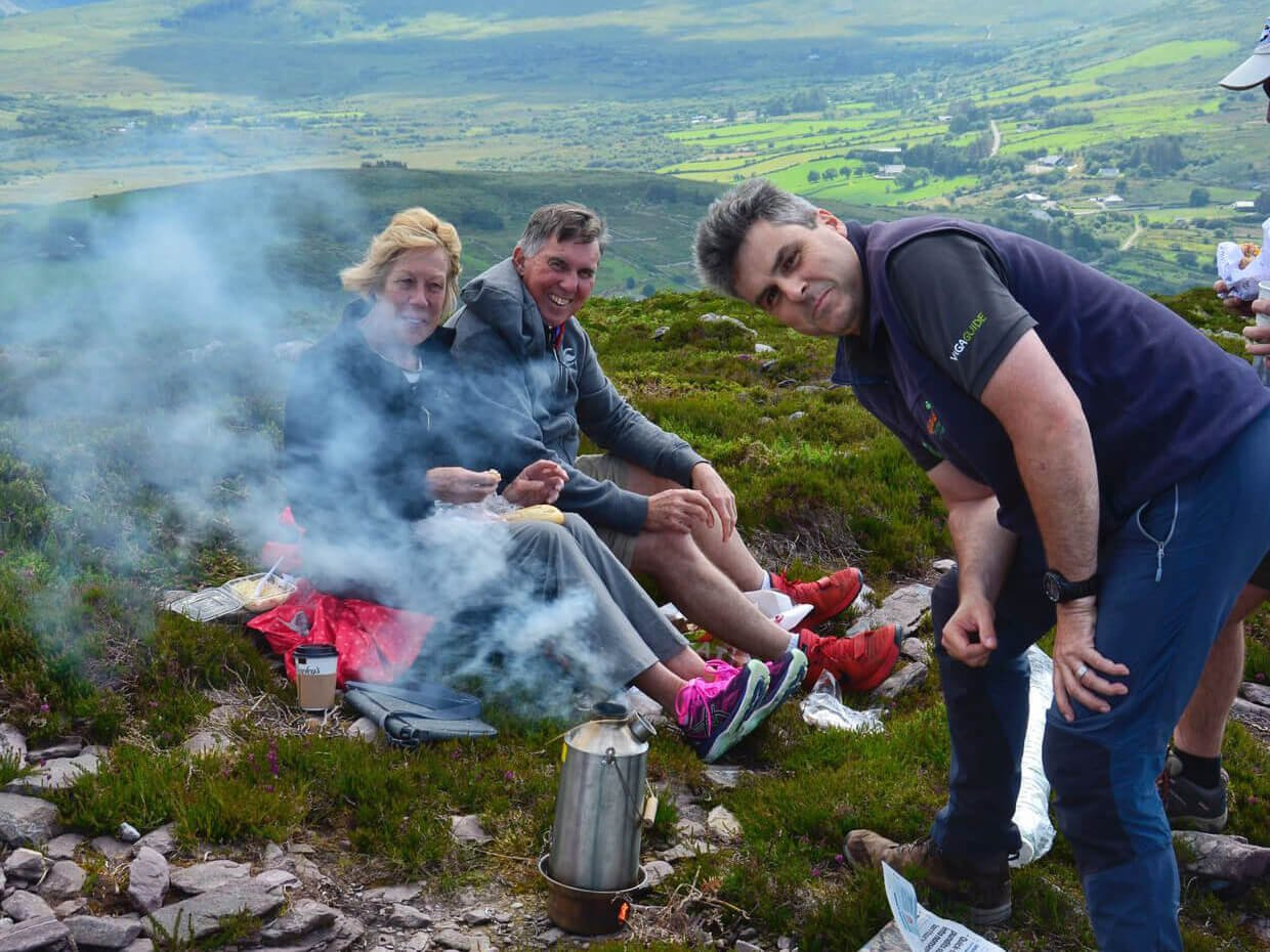 Tour group picnicking in Ireland with Vagabond Tours