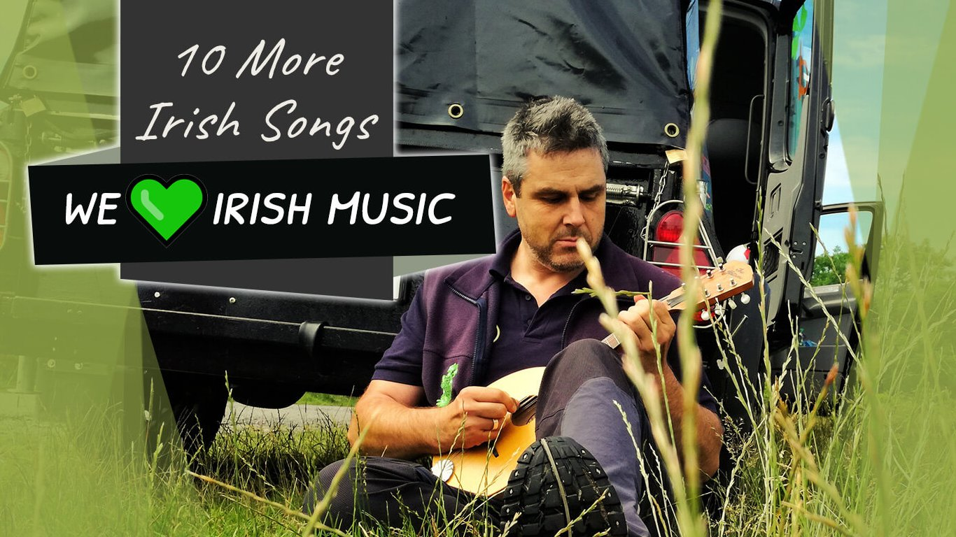 10 More Irish Songs blog feature image showing guide playing music