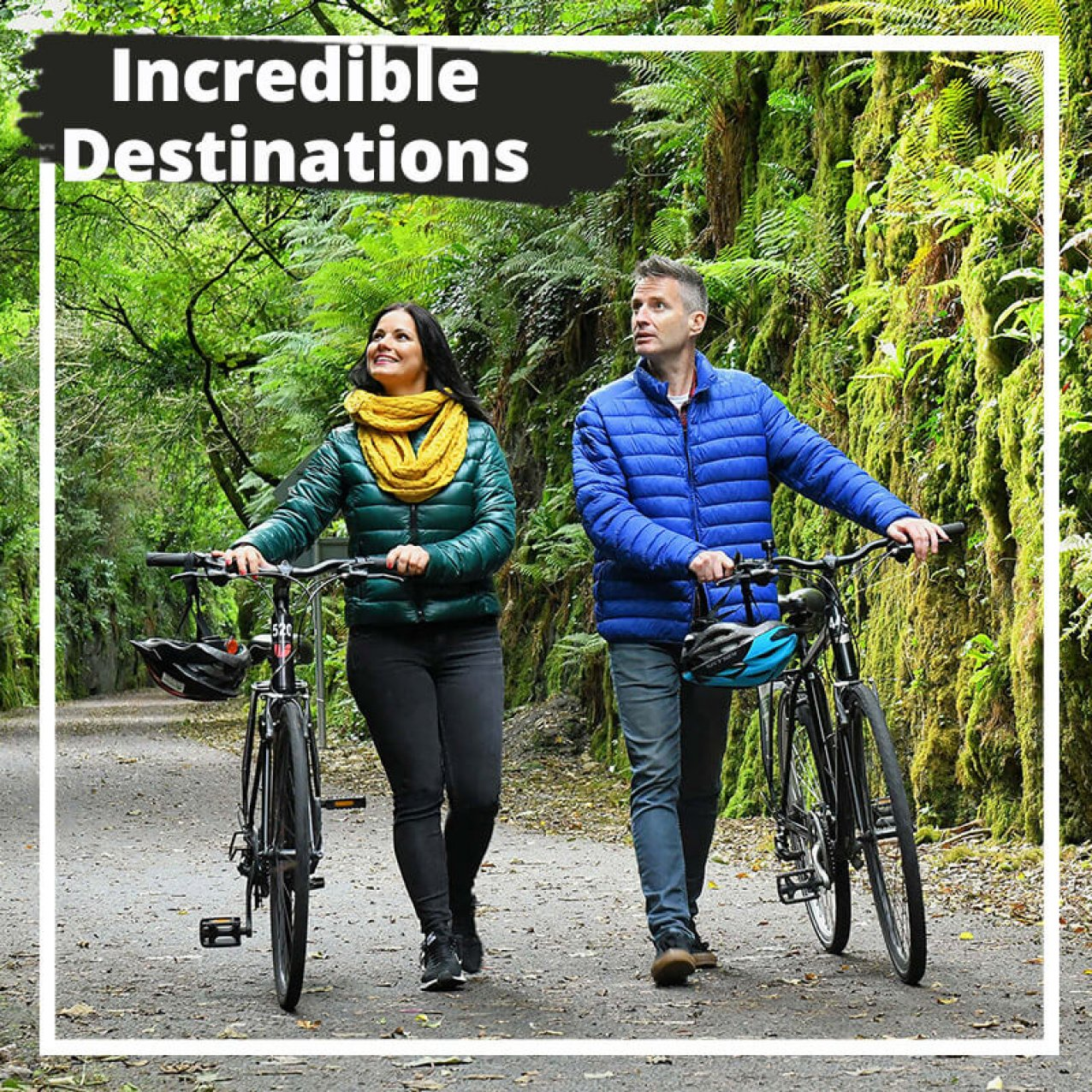 Incredible destinations with couple on bikes in Ireland