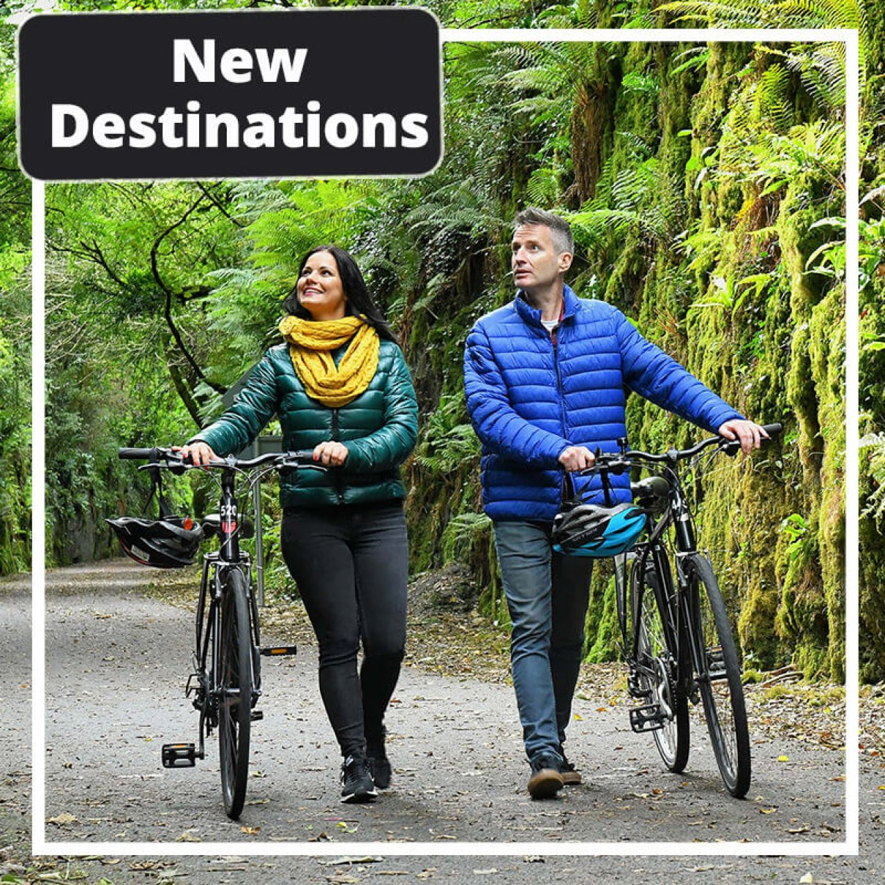 New destinations with two cyclists in Ireland
