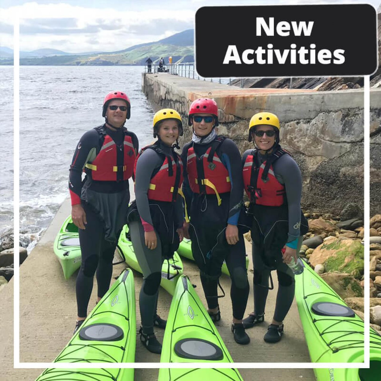 New Activities tour group with kayaks in Donegal