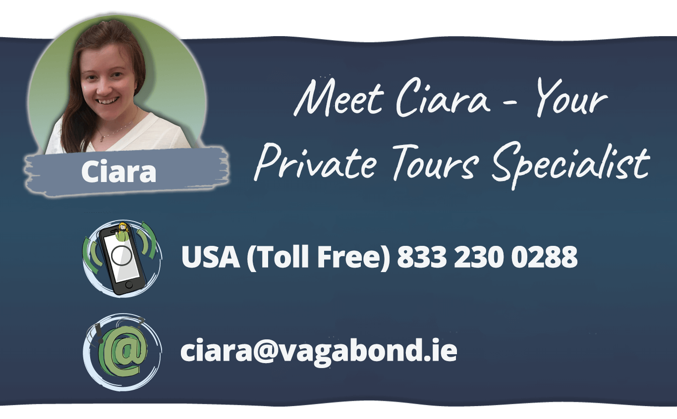 Meet Ciara Your Private Tours of Ireland Specialist - email enquiries@vagabond.ie