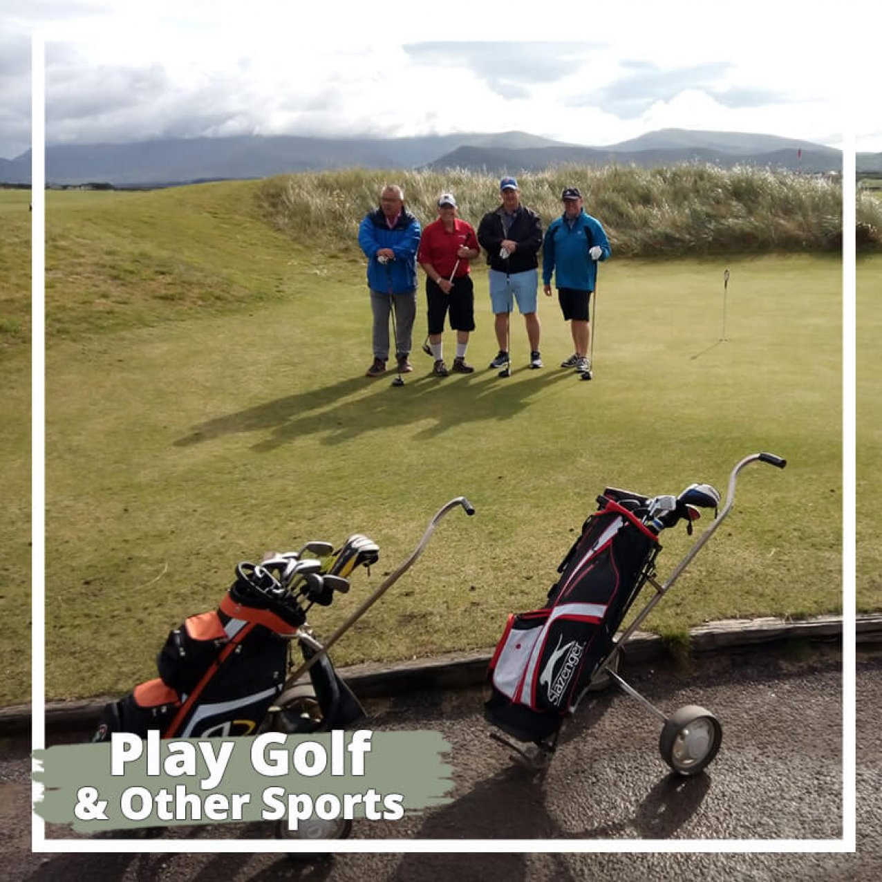 Play golf on a private tour of Ireland