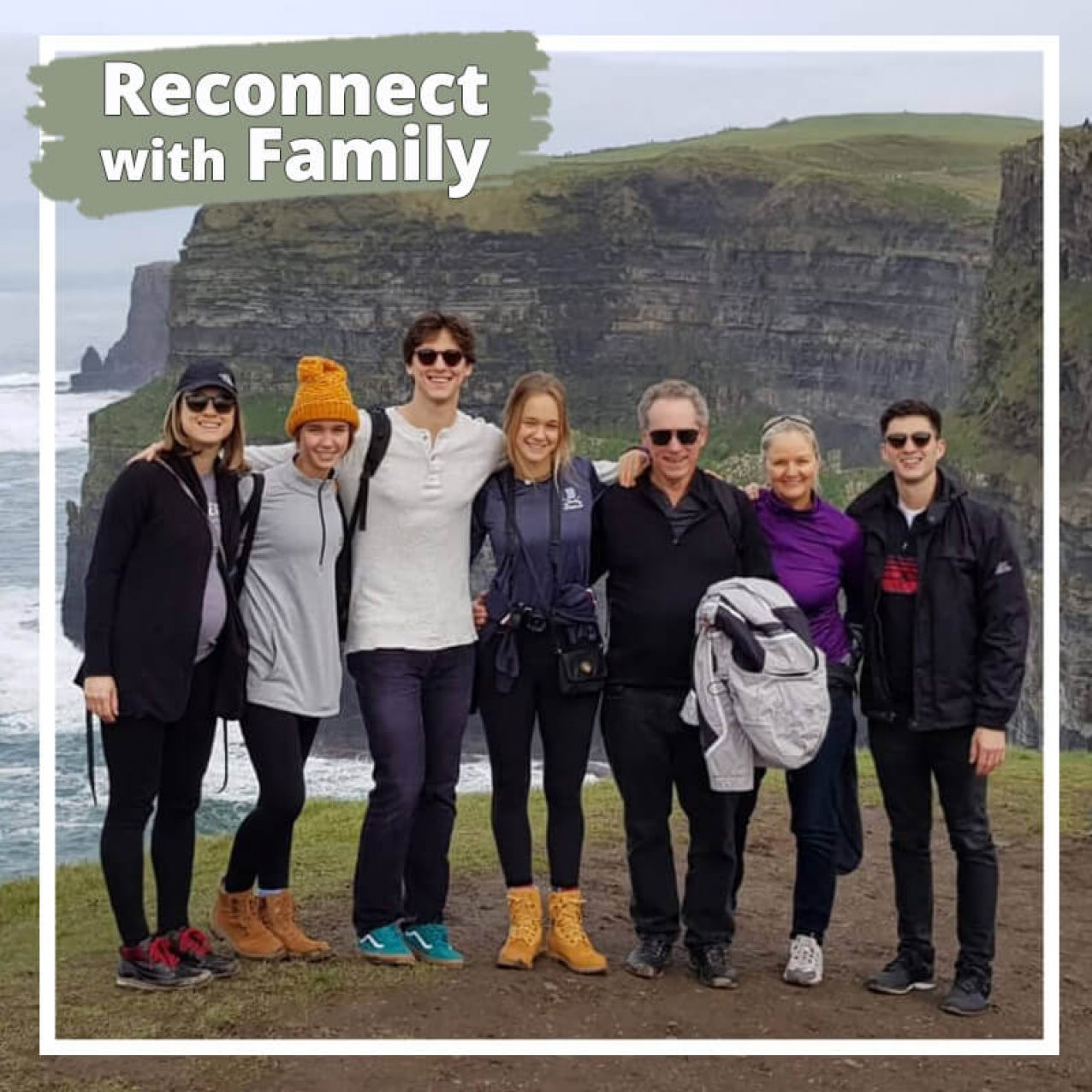 Reconnect with family on the Cliffs of Moher with a private tour of Ireland