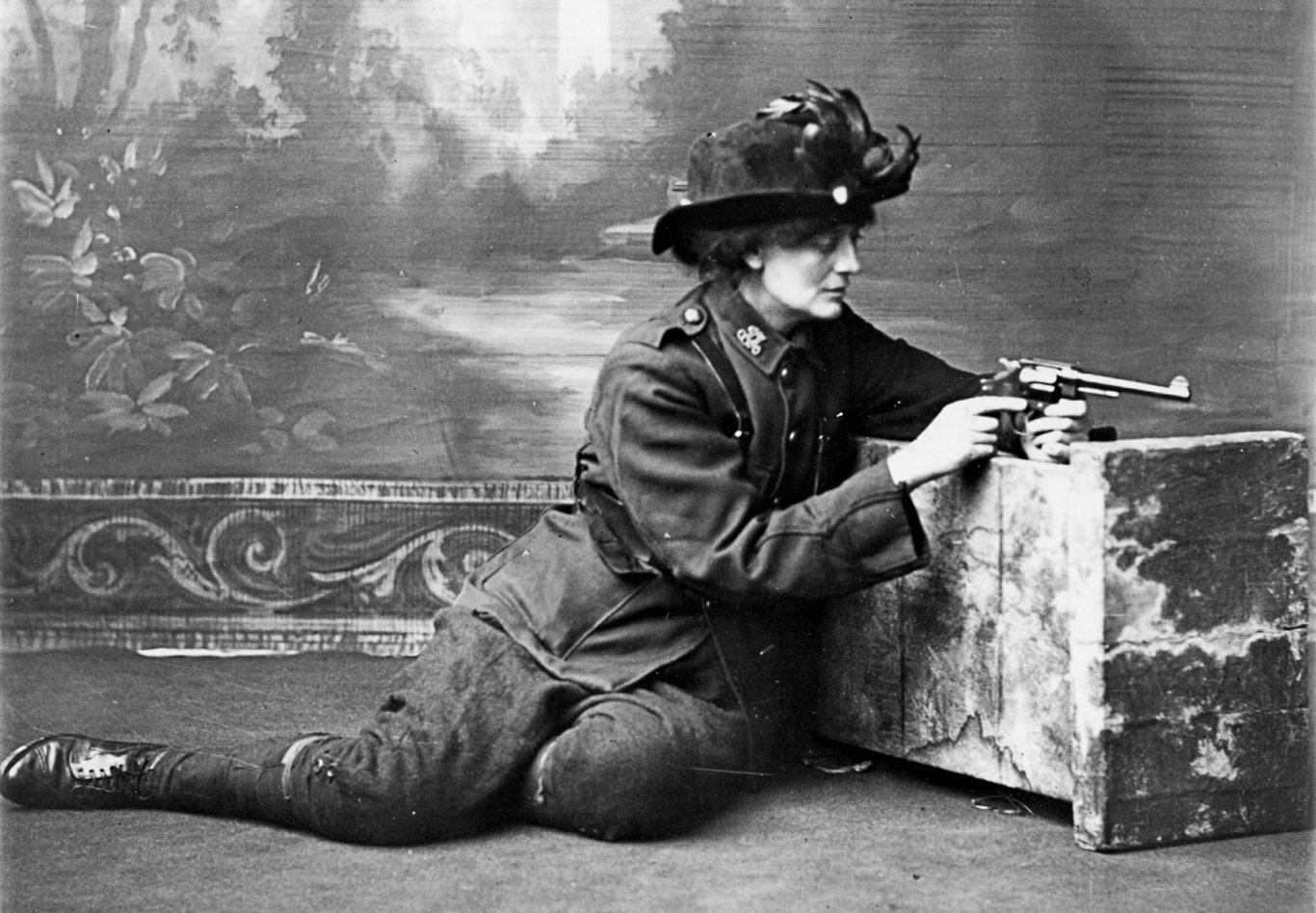 Rebel and feminist, Constance Markievicz, posing for a photo