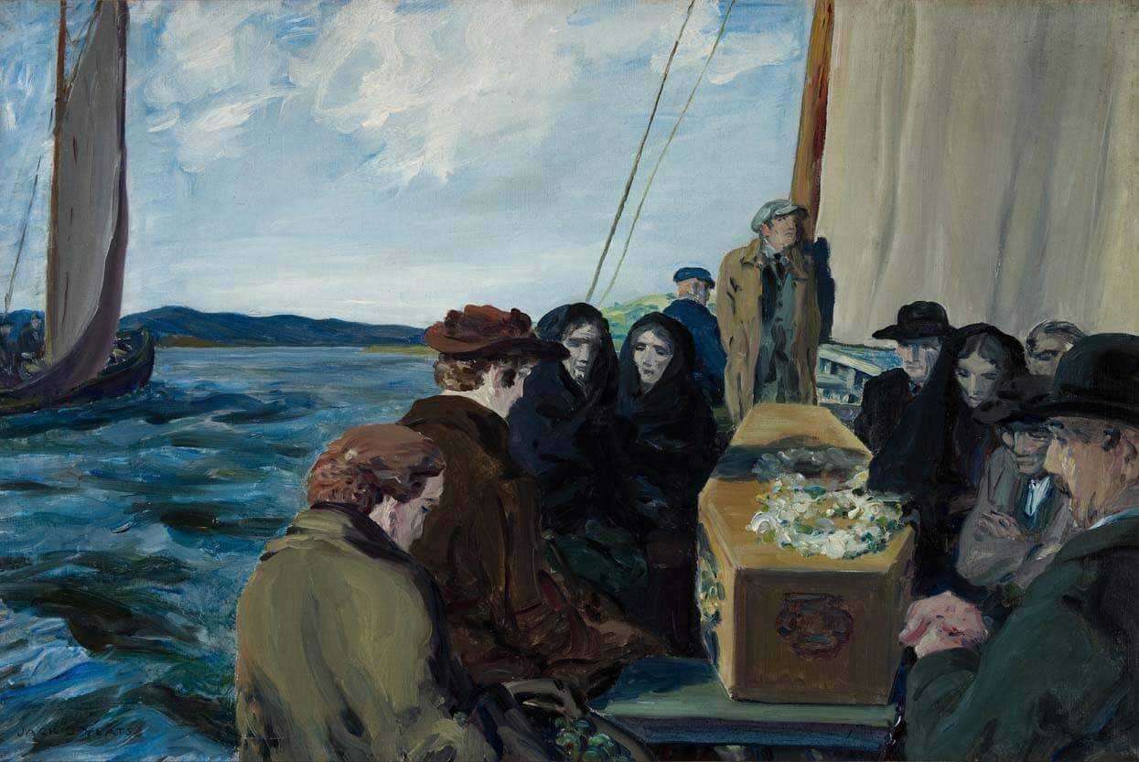 An Island Funeral - Painting by Irish artist Jack B Yeats