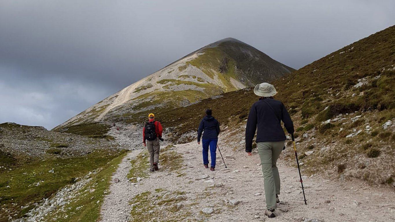 Vagabond guests hiking on Croagh Patrick