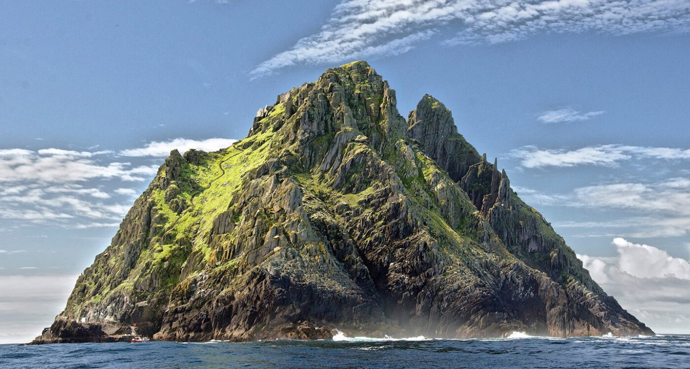 A frontal close up view of Skellig Michael