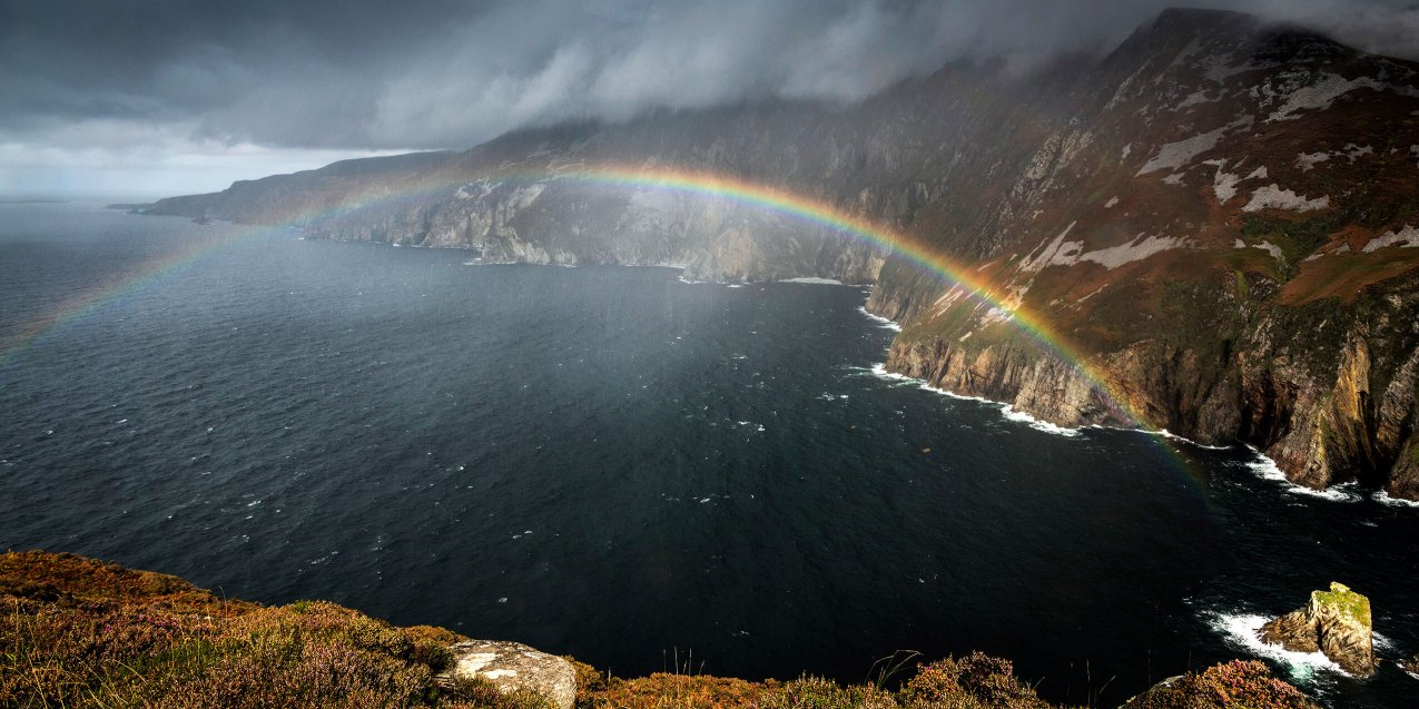 Rainbow over Sliabh League Cliffs, Donegal