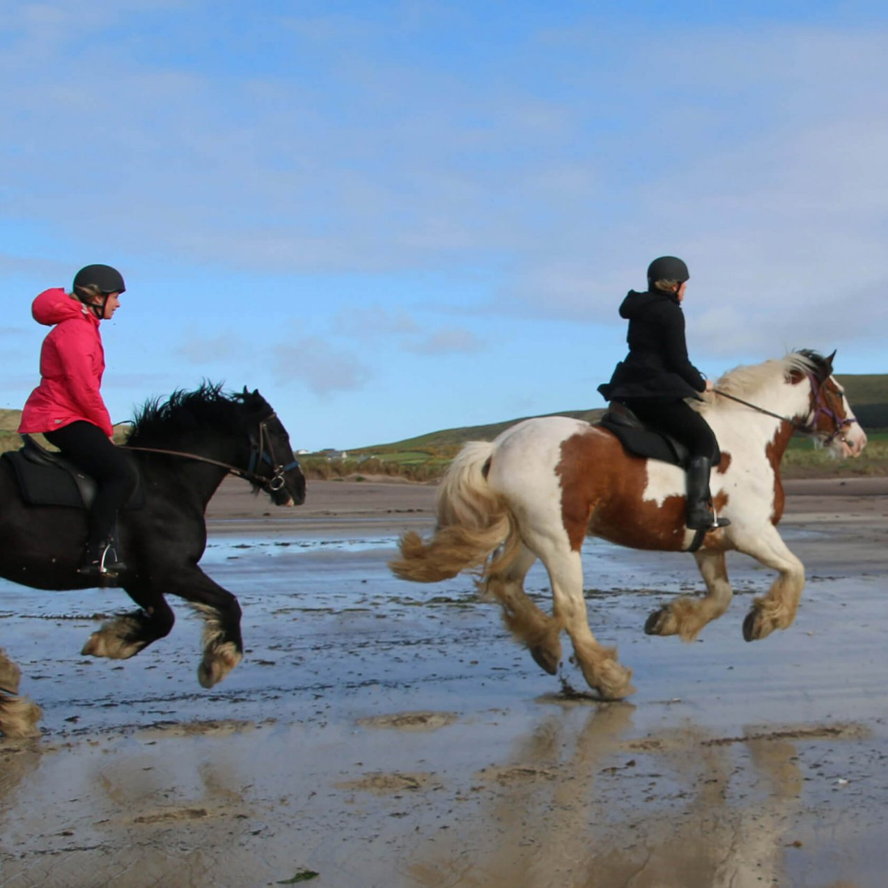 Horse Riding on an Irish Beach