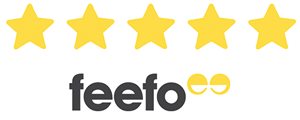 Feefo five gold stars