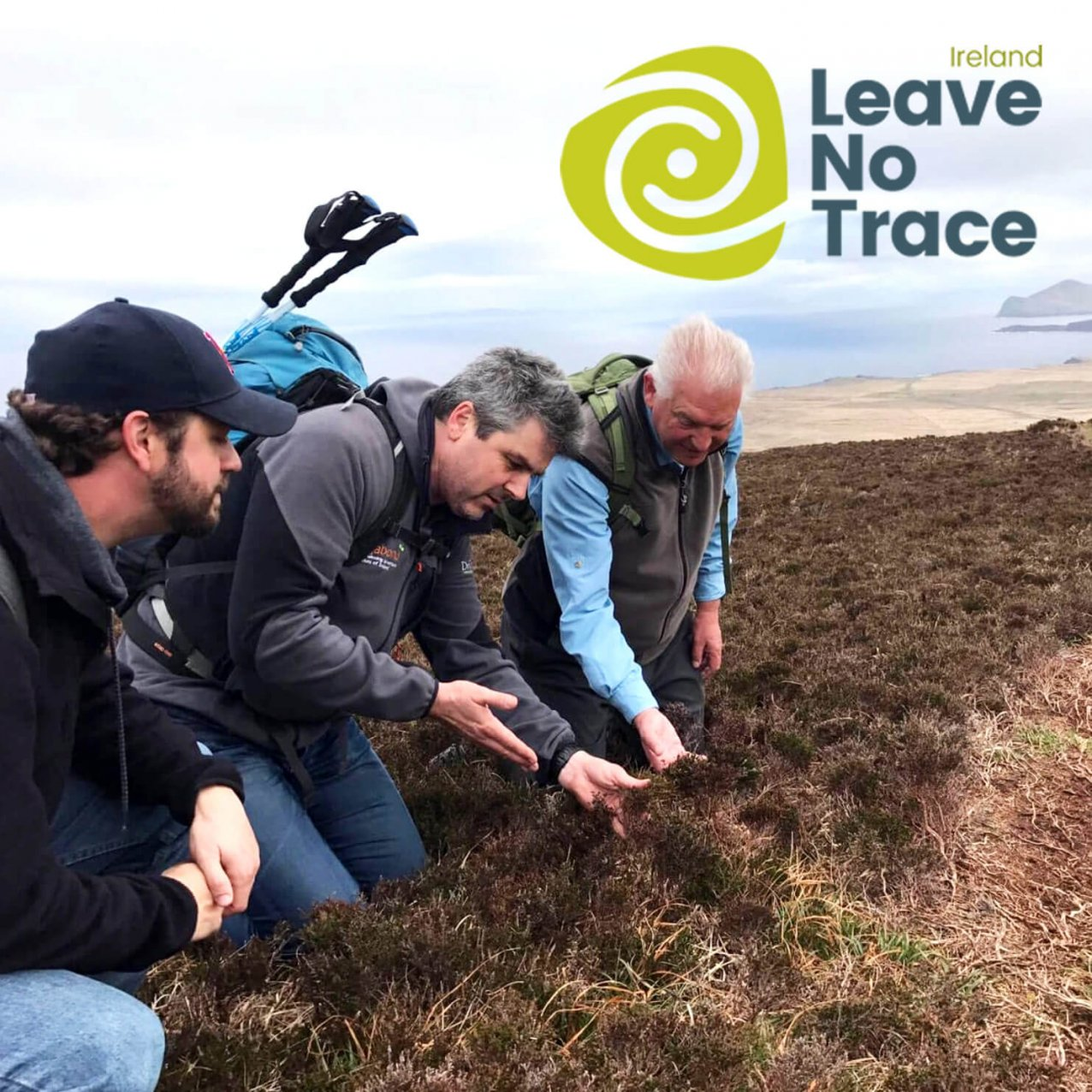 Tour Guide on Leave No Trace training in Ireland