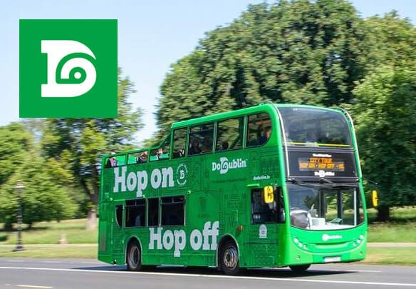 A hop on hop off sightseeing bus