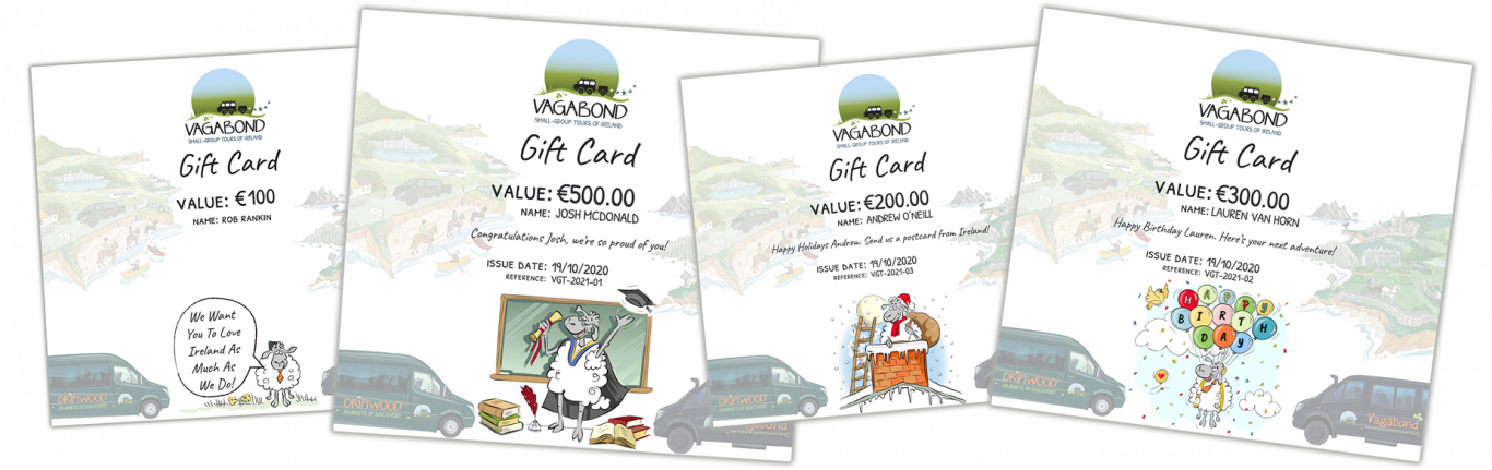 Vagabond Tours of Ireland Gift Cards