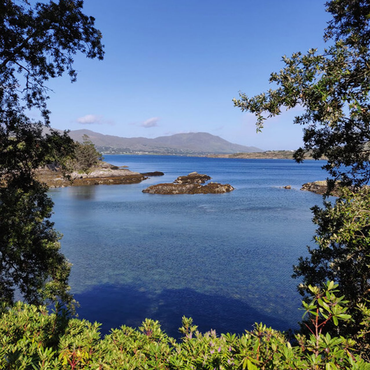 Scenic ocean views from Bullig Bay on the Beara Peninsula