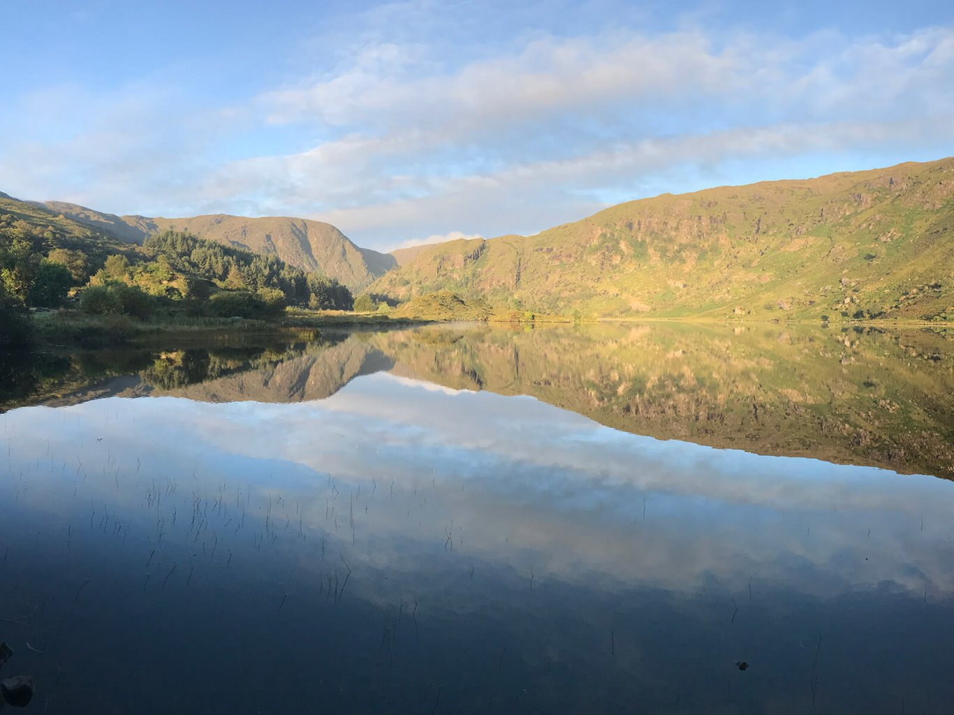 Gougane Barra lake in the sun