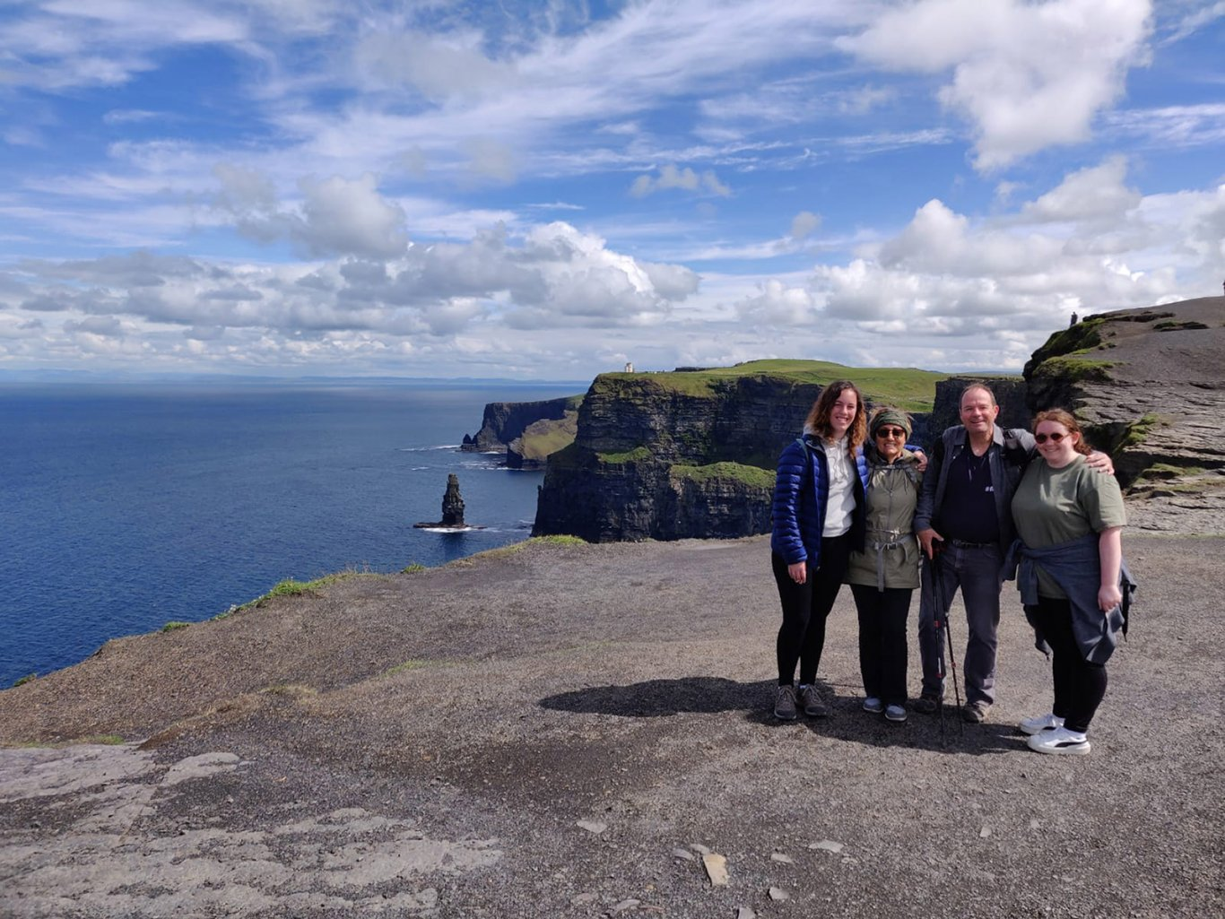A family at the Cliffs of Moher