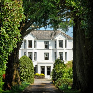 Exterior view of Seaview House and gardens in Cork, Ireland