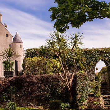 The stunning gardens and exterior of Ballygally Castle