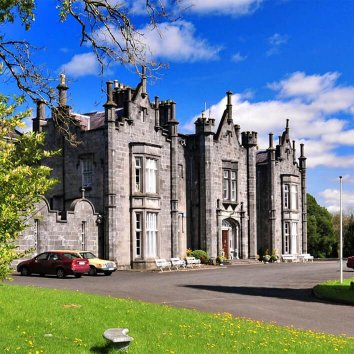 The front exterior view of the stunning Belleek Castle