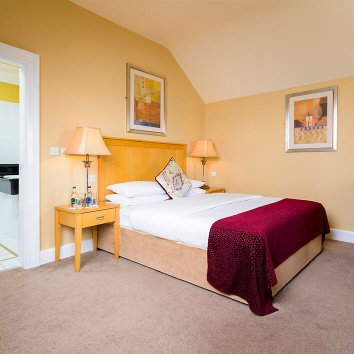 The interior design of a double ensuite room in the Dingle Bay Hotel