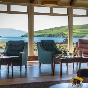 The view from the restaurant overlooking Dingle Bay