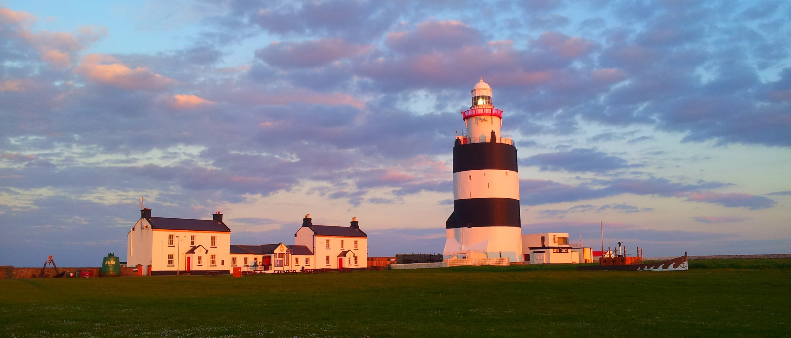 Sunset colours and sky on Hook Lighthouse, Ireland