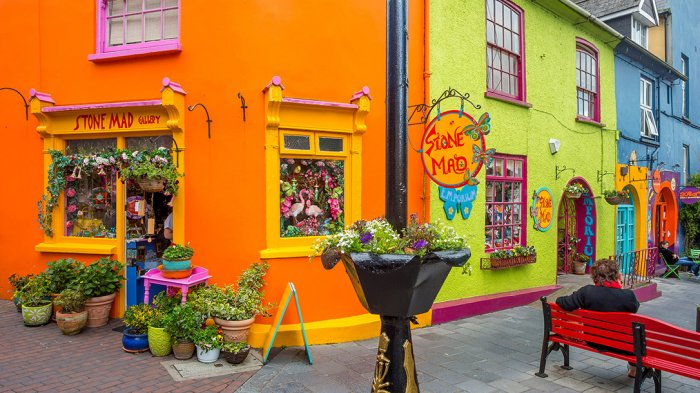 Bright and colourful shops in Kinsale