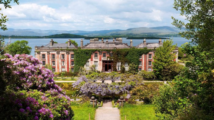 Scenic view of 18th century Bantry House and Gardens in west Cork, Ireland