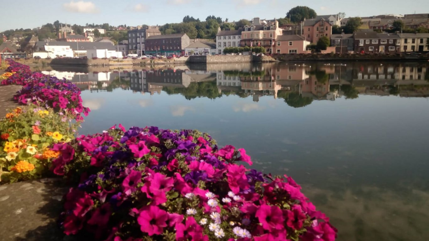 Flowers and water in Kinsale, Ireland