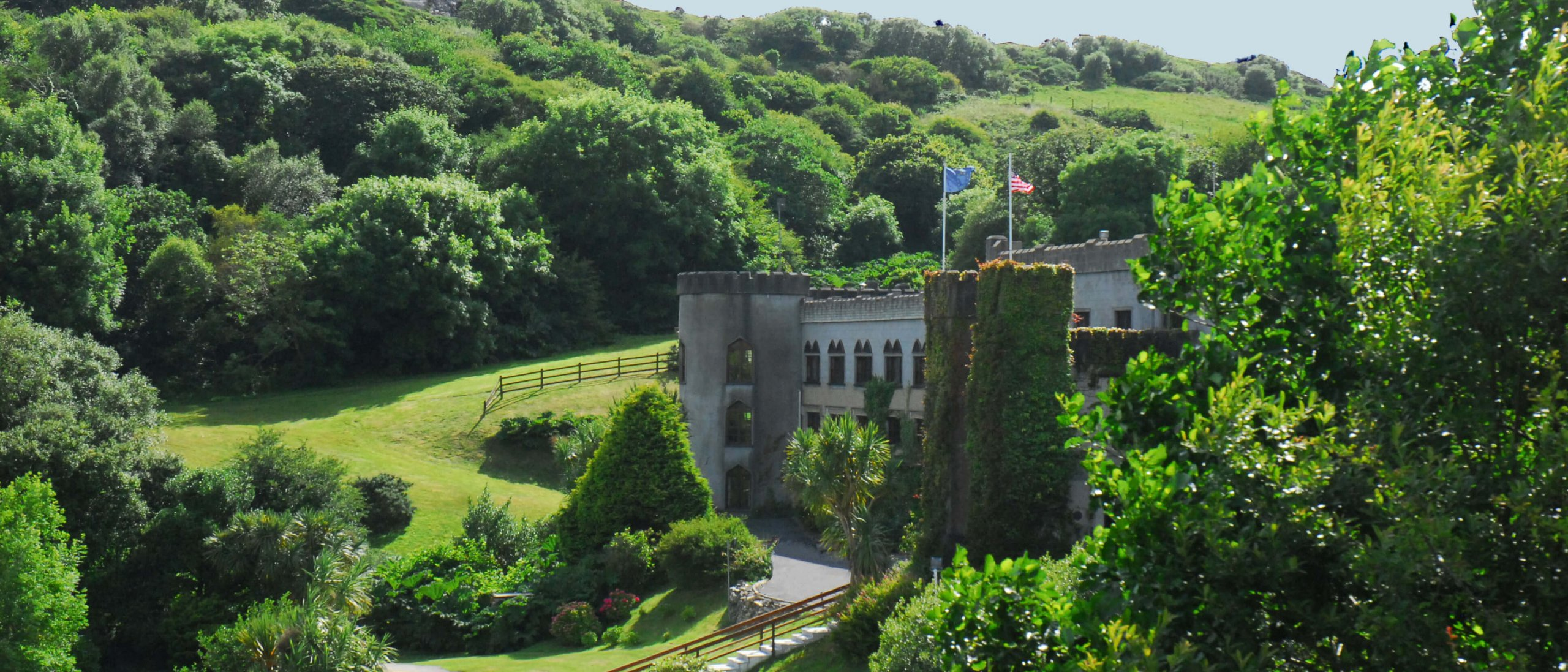 Exterior of Abbeyglen Castle Hotel in Connemara