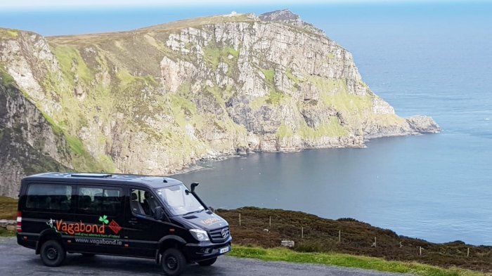 Tour vehicle at HOrn Head, Donegal, ireland