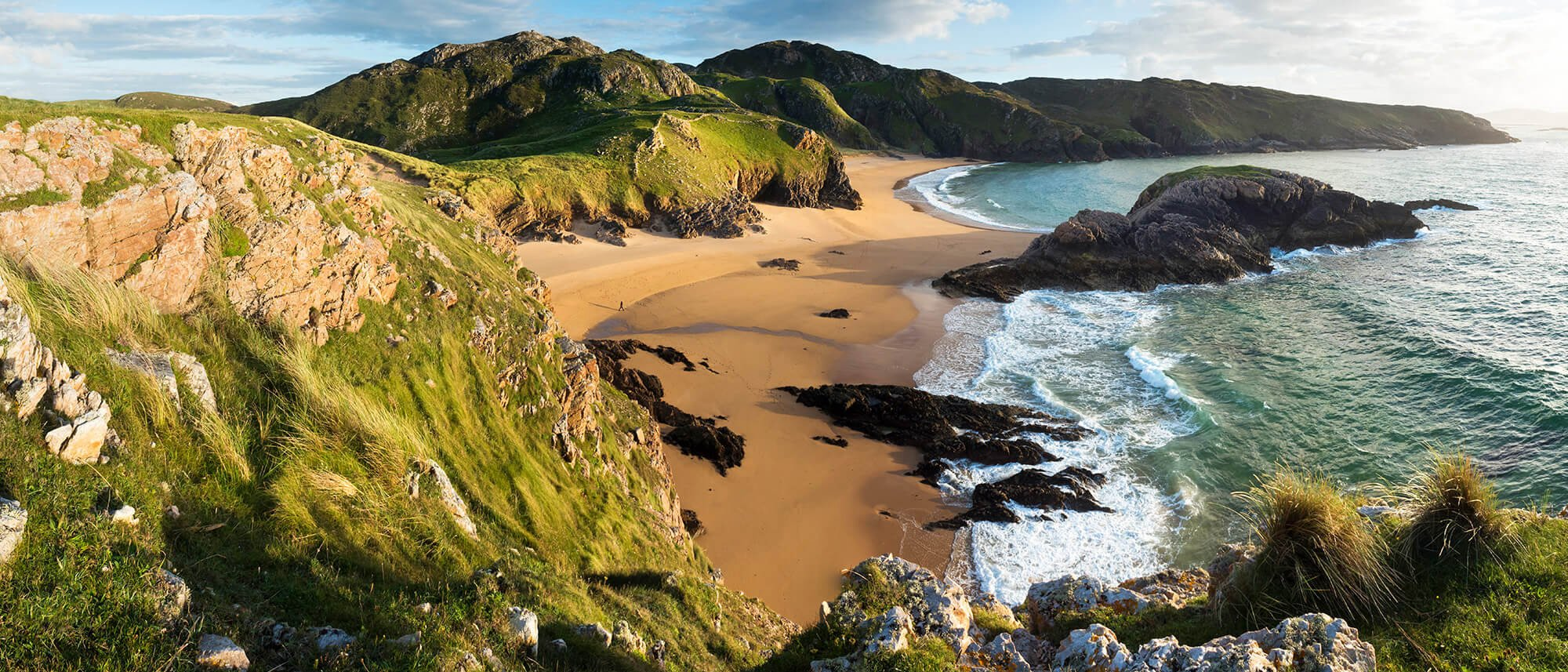 Scenic Melmore Head beach in Donegal